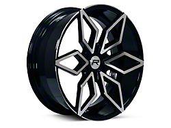 Rovos Kimberley Black Machined 6-Lug Wheel; 24x10; 25mm Offset (04-08 F-150)