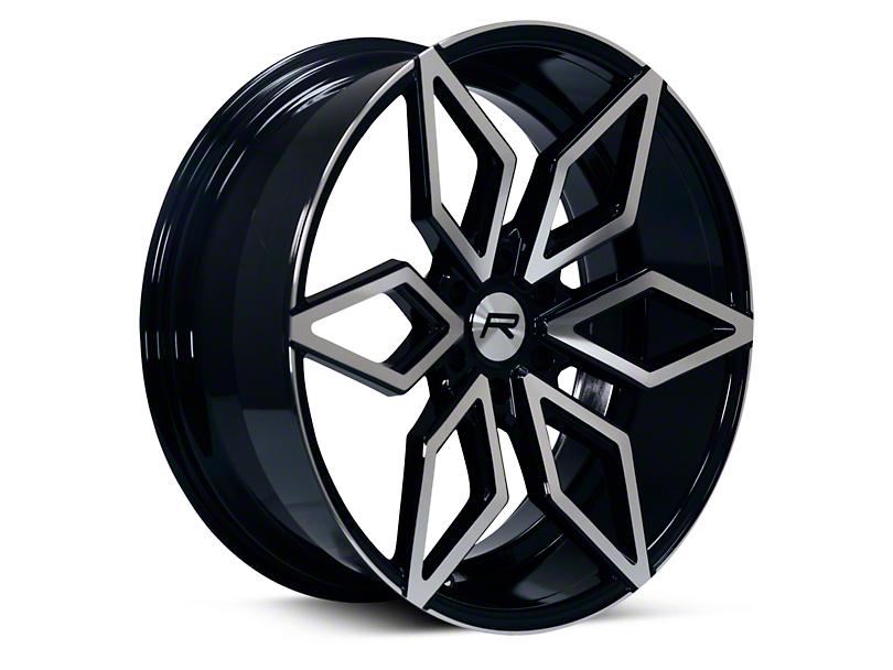 Rovos Kimberley Black Machined 6-Lug Wheel; 24x10; 25mm Offset (09-14 F-150)