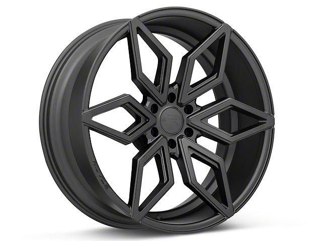 Rovos Kimberley Satin Black 6-Lug Wheel; 24x10; 25mm Offset (15-20 F-150)