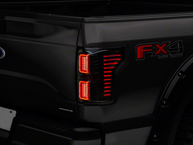Raxiom Horizon LED Tail Lights - Smoked (15-17 w/o BLIS)