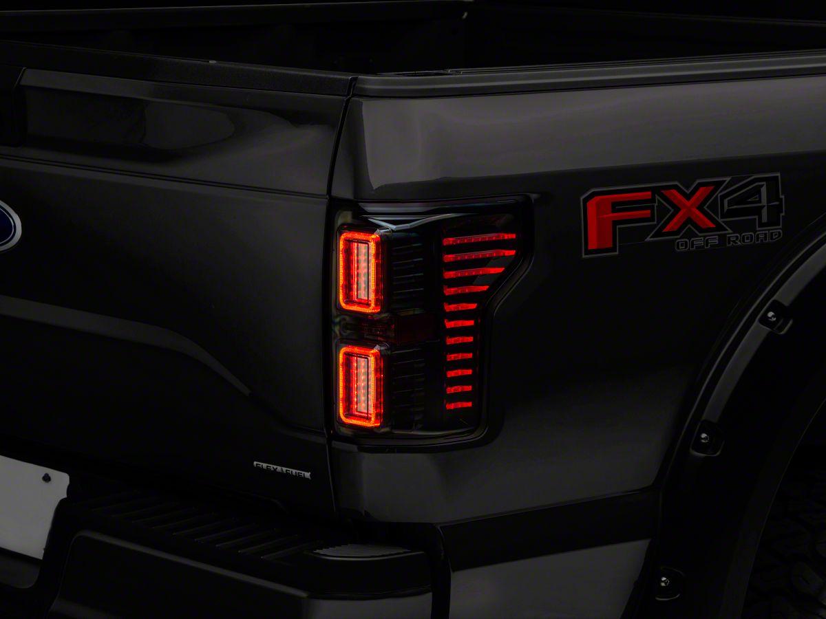 Raxiom Horizon LED Tail Lights - Smoked (15-19 F-150 w/o BLIS)