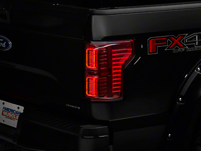 Raxiom Horizon LED Tail Lights - Clear/Red (15-17 w/o BLIS)