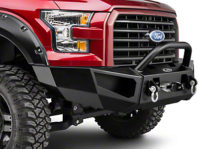 Heavy Duty Bull Guard Winch Mount Front Bumper (15-17 F-150, Excluding Raptor)