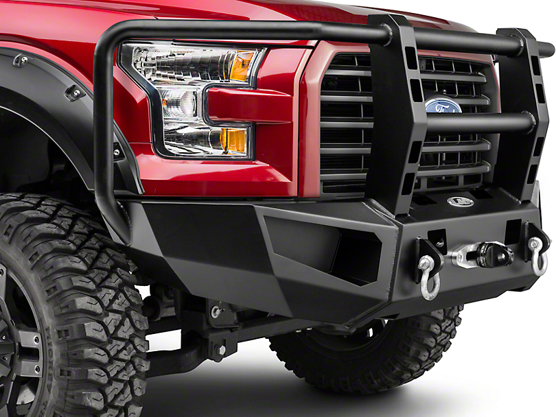 Heavy Duty Full Guard Winch Front Bumper (15-17 All, Excluding Raptor)