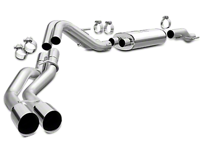 Magnaflow MF Series Cat-Back Exhaust - Dual Side Exit - After Rear Tire (15-18 5.0L)