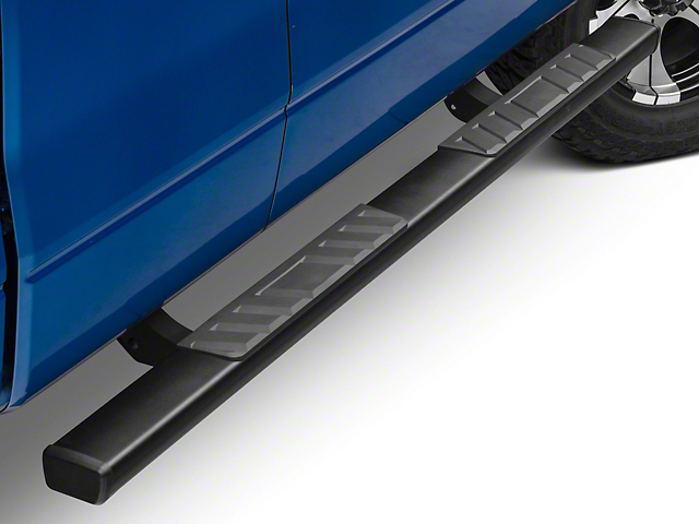 Barricade T4 Square Side Step Bars - Black (09-14 F-150 SuperCab, SuperCrew)