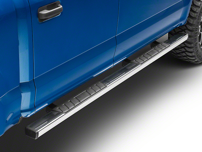 Barricade T4 Square Side Step Bars - Stainless Steel (15-18 F-150 SuperCab, SuperCrew)