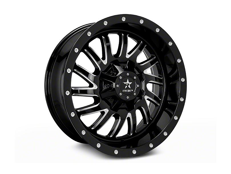 RBP Uzi Gloss Black Machined 6-Lug Wheel - 20x9 (04-17 All)