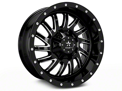 RBP Uzi Gloss Black Machined 6-Lug Wheel - 20x9 (04-17 All)
