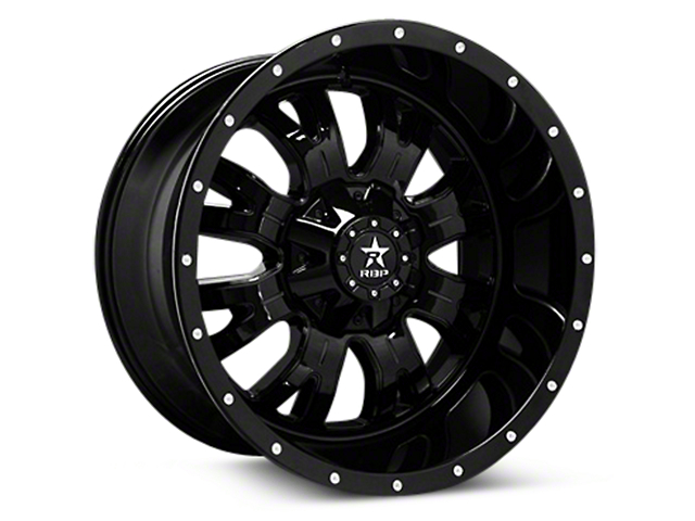 RBP 89R Assassin Gloss Black Machined 6-Lug Wheel - 20x10 (04-18 All)