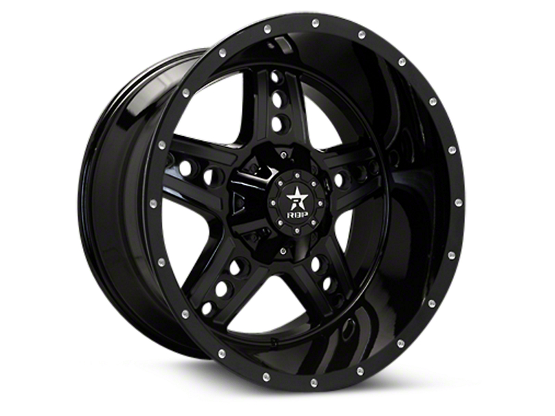RBP Colt Gloss Black Machined 6-Lug Wheel - 20x10 (04-17 All)