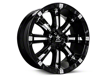 RBP 94R Black w/ Chrome Inserts 6-Lug Wheel - 18x10 (04-18 All)