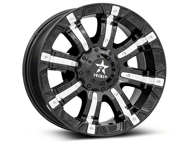 RBP 94R Black w/ Chrome Inserts 6-Lug Wheel - 18x9 (04-18 All)