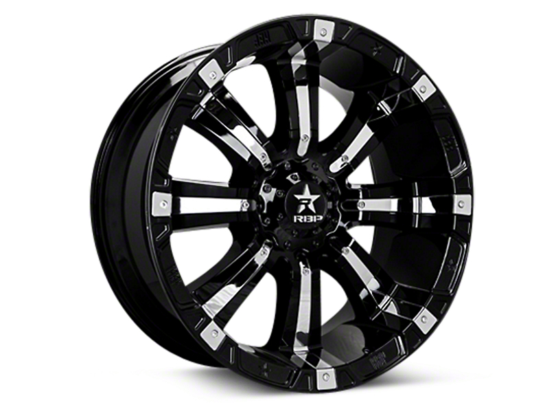 RBP 94R Black w/ Chrome Inserts 6-Lug Wheel - 20x9 (04-18 All)