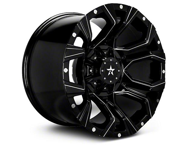 RBP 64R Widow Gloss Black w/ Machined Accents 6-Lug Wheel - 18x9 (04-18 F-150)