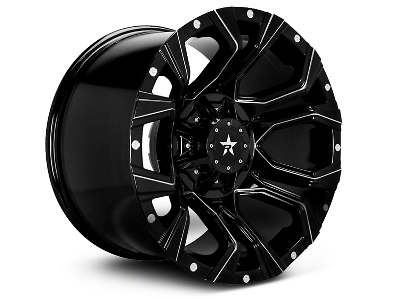 RBP 64R Widow Gloss Black w/ Machined Accents 6-Lug Wheel - 20x10 (04-18 All)