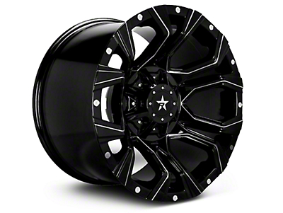 RBP 64R Widow Gloss Black w/ Machined Accents 6-Lug Wheel - 20x10 (04-17 All)