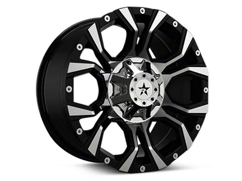 RBP 64R Widow Black Machined 6-Lug Wheel - 18x9 (04-17 All)