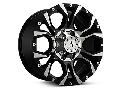 RBP 64R Widow Black Machined 6-Lug Wheel - 18x9 (04-17 All)