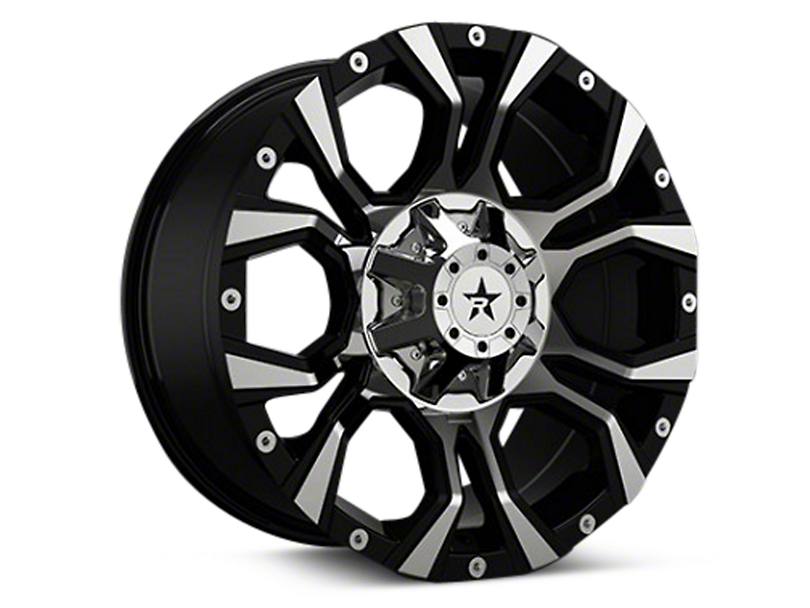 RBP 64R Widow Black Machined 6-Lug Wheel - 20x10 (04-18 All)
