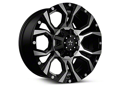 RBP 64R Widow Black Machined 6-Lug Wheel - 20x12 (04-18 All)