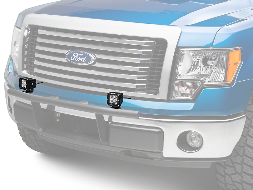 KC HiLiTES 3 in. C-Series C3 Amber LED Light Cubes - Spot Beam - Pair (97-18 F-150)