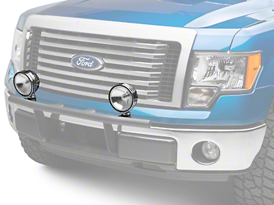KC HiLiTES 6 in. Chrome Daylighter Round Halogen Light - Spread Beam - Pair (97-18 F-150)