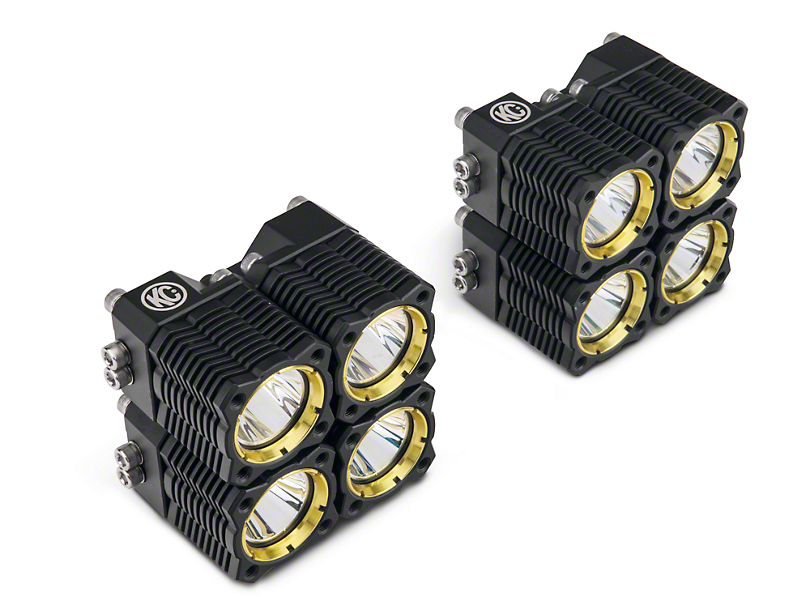 KC HiLiTES Flex Quad LED Light Cubes - Spot/Spread Combo - Pair (97-18 F-150)
