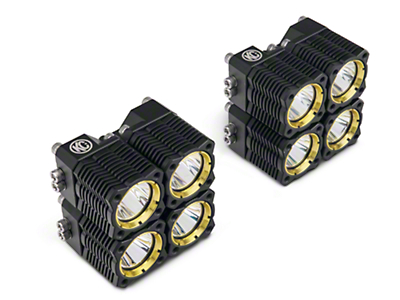 KC HiLiTES Flex Quad LED Light Cubes - Spot/Spread Combo - Pair (97-18 All)