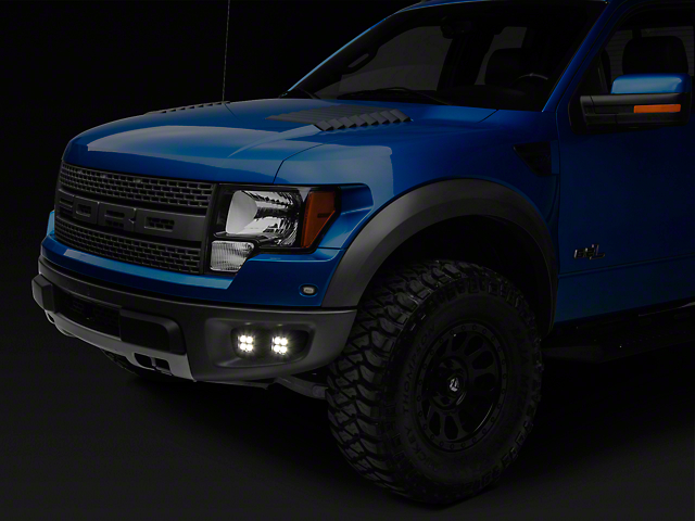 KC HiLiTES 3 in. LZR LED Cubes w/ Bumper Mounting Brackets - Driving Beam (10-14 F-150 Raptor)
