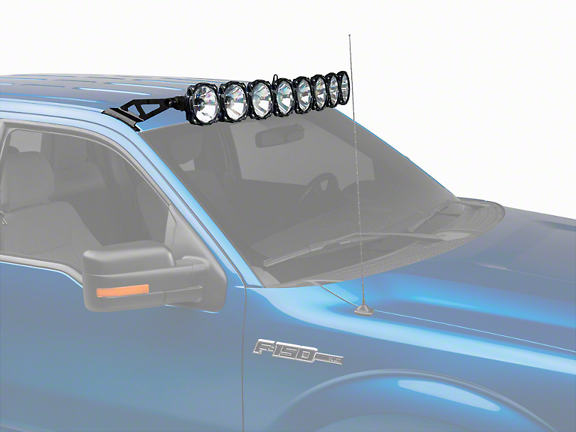 KC HiLiTES 50 in. Gravity Pro6 LED Light Bar w/ Overhead Roof Mounting Brackets (09-14 F-150)
