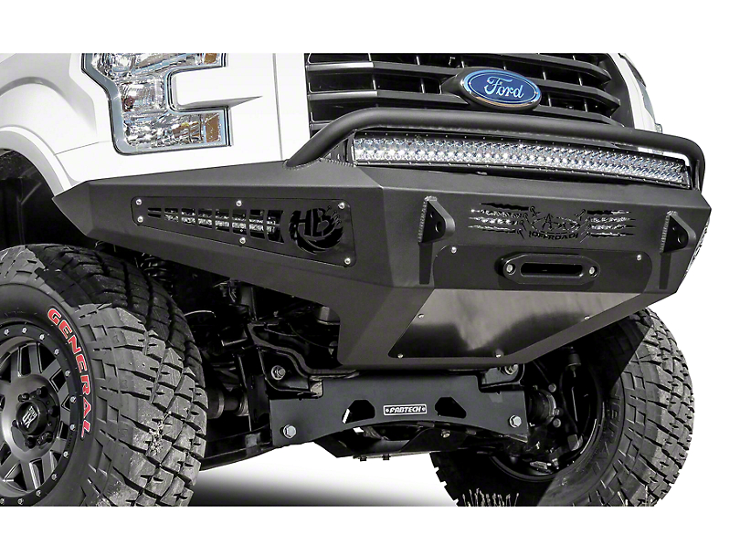 Addictive Desert Designs Honeybadger Front Bumper w/ Winch Mount (15-17 3.5L V6, 5.0L)