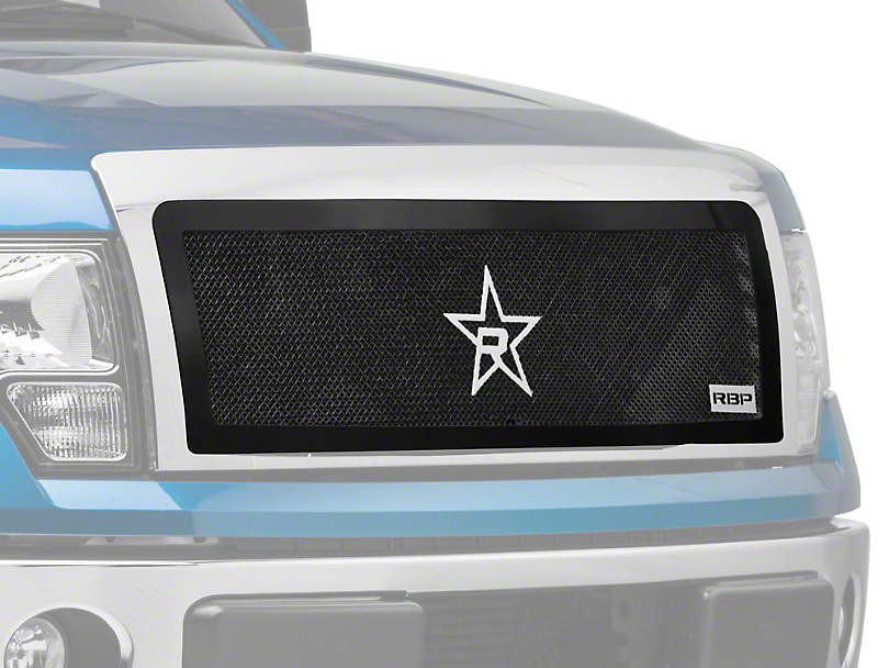 RBP RL-Series Smooth Frame Upper Grille Insert - Black (09-14 All, Excluding Harley Davidson & Raptor)