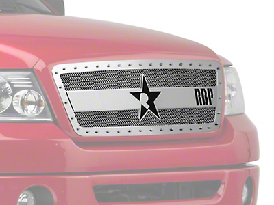 RBP RX-3 Series Studded Frame Upper Grille Insert - Chrome (04-08 All, Excluding Harley Davidson)