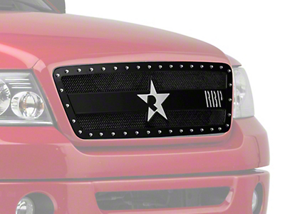 RBP RX-3 Series Studded Frame Upper Grille Insert - Black (04-08 All, Excluding Harley Davidson)