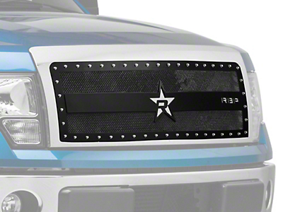 RBP RX-3 Series Studded Frame Upper Grille Insert - Black (09-14 All, Excluding Harley Davidson & Raptor)