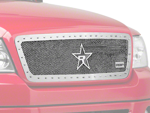 RBP RX-5 HALO Series Studded Frame Upper Grille Insert - Chrome (04-08 All)