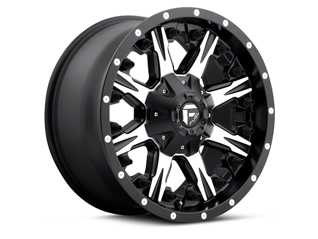 Fuel Wheels NUTZ Black Machined 5-Lug Wheel - 17x9 (97-03 F-150)