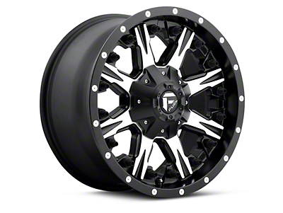Fuel Wheels Black Machined NUTZ 5-Lug Wheel - 17x9 (97-03 F-150)