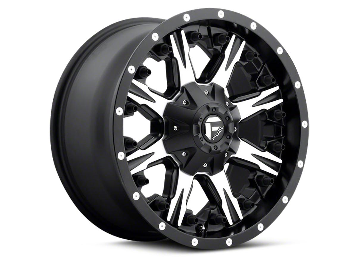 Fuel Wheels Black Machined NUTZ 5-Lug Wheel - 17x9 (97-03 All)