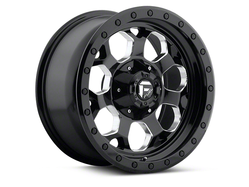Fuel Wheels Black Machined Savage 5-Lug Wheel - 17x8.5 (97-03 All)
