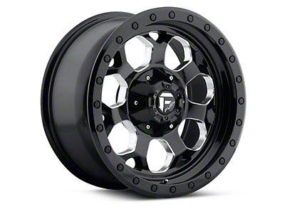 Fuel Wheels Black Machined Savage 5-Lug Wheel - 17x8.5 (97-03 F-150)