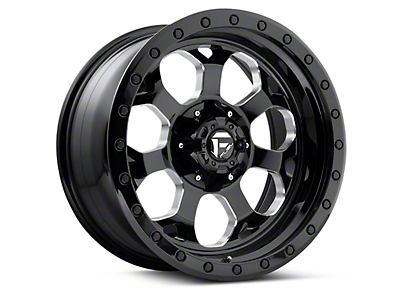 Fuel Wheels Black Machined Savage 5-Lug Wheel - 18x9 (97-03 All)