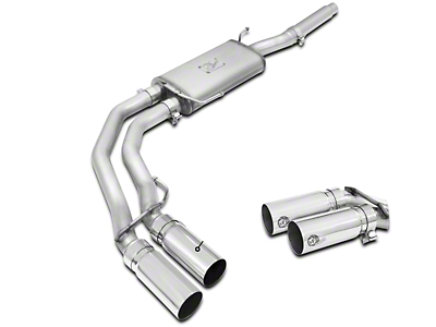 AFE Rebel Series 3 in. to 2.5 in. Cat-Back Exhaust w/ Polished Tips - Middle Side Exit (04-08 4.6L)