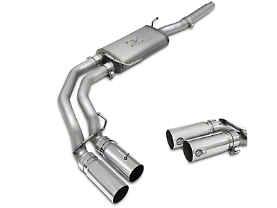 AFE Rebel Series 3 in. to 2.5 in. Dual Exhaust System w/ Polished Tips - Middle Side Exit (04-08 5.4L)