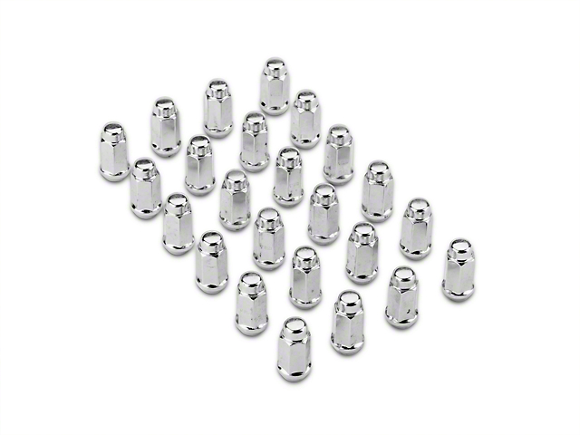 Chrome 3/4 in. Bulge Acorn Lug Nut Kit - 14mm x 2.0 (04-14 All)