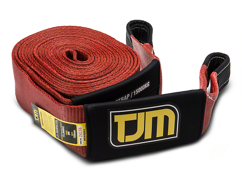 TJM 4 in. x 30 ft. OX Snatch Strap - 33,000 lbs. (97-17 All)