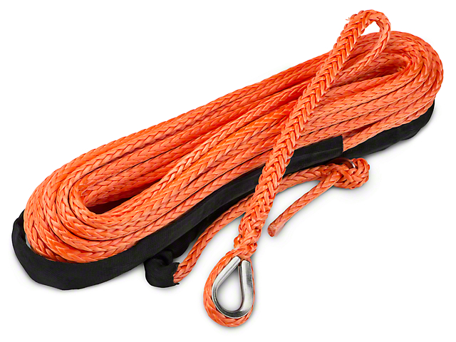 Barricade Replacement Synthetic Rope for Barricade 12,000 lb. Winch - Orange (97-17 All)