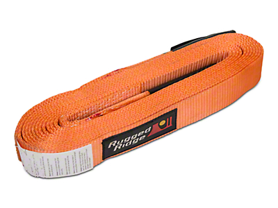 Rugged Ridge 2 in. x 30 ft. Recovery Strap - 20,000 lbs. (97-18 All)