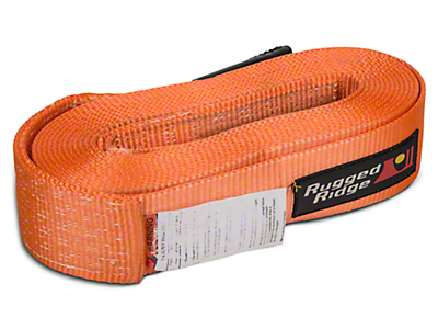 Rugged Ridge 3 in. x 30 ft. Recovery Strap - 30,000 lbs. (97-18 All)